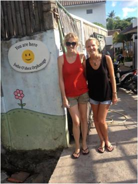 Lauren and I at the entrance of the orphanage.